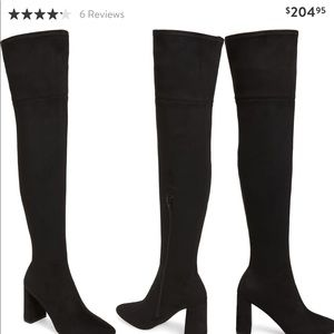 Jeffrey Campbell over the knee boots siz 8.5 black
